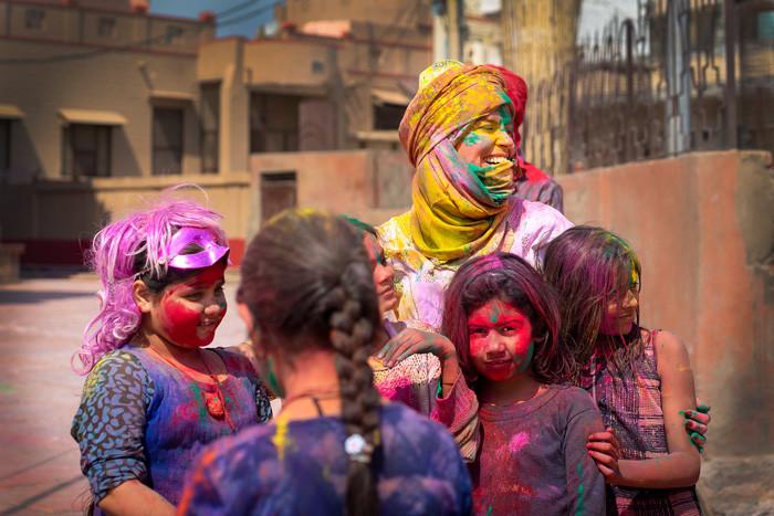 Fotokurs AdventureInFocus 2019, Holi Fest, Indien