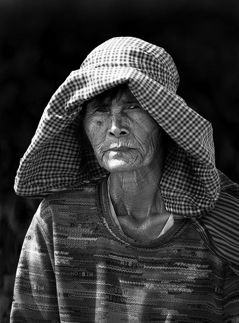 Cambodian farmer, phnom penh, Cambodia. Picture by Runa Lindberg