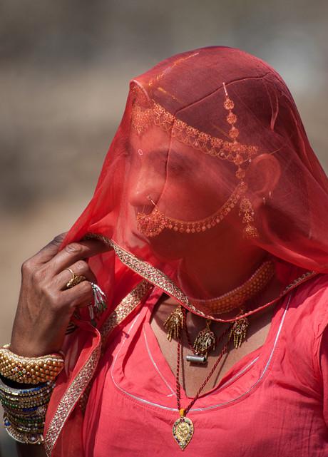 Portrait of a Bishnoi-Woman