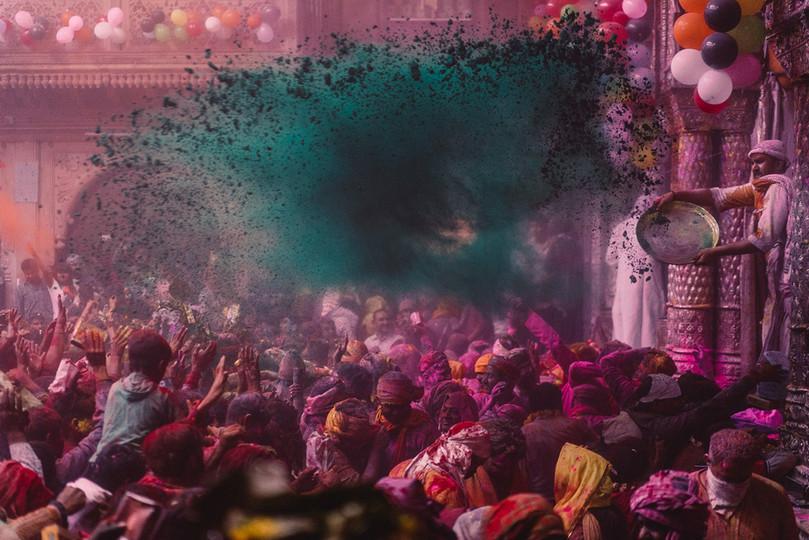 Holi-Festival, Fotografie-Reise 2021, Vrindavan, Indien