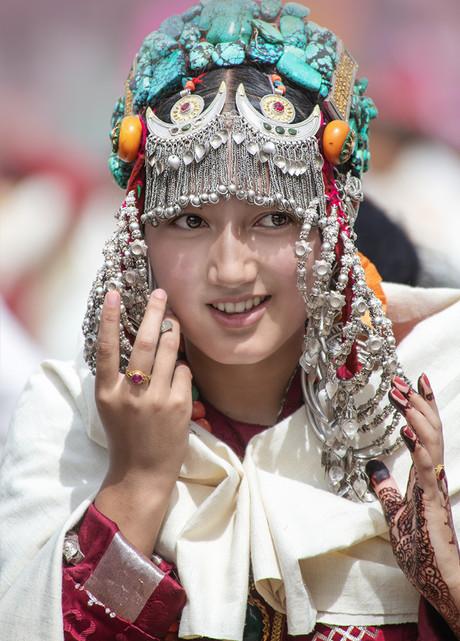 Portrait of a himalayian girl