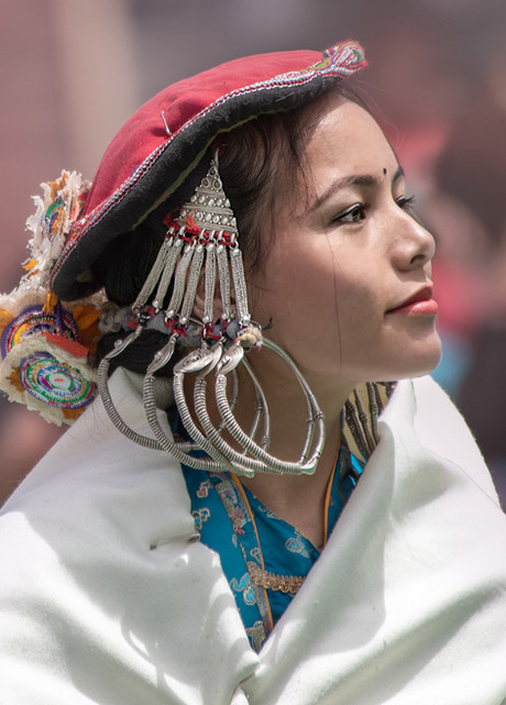 Portrait of a young woman in Keylong