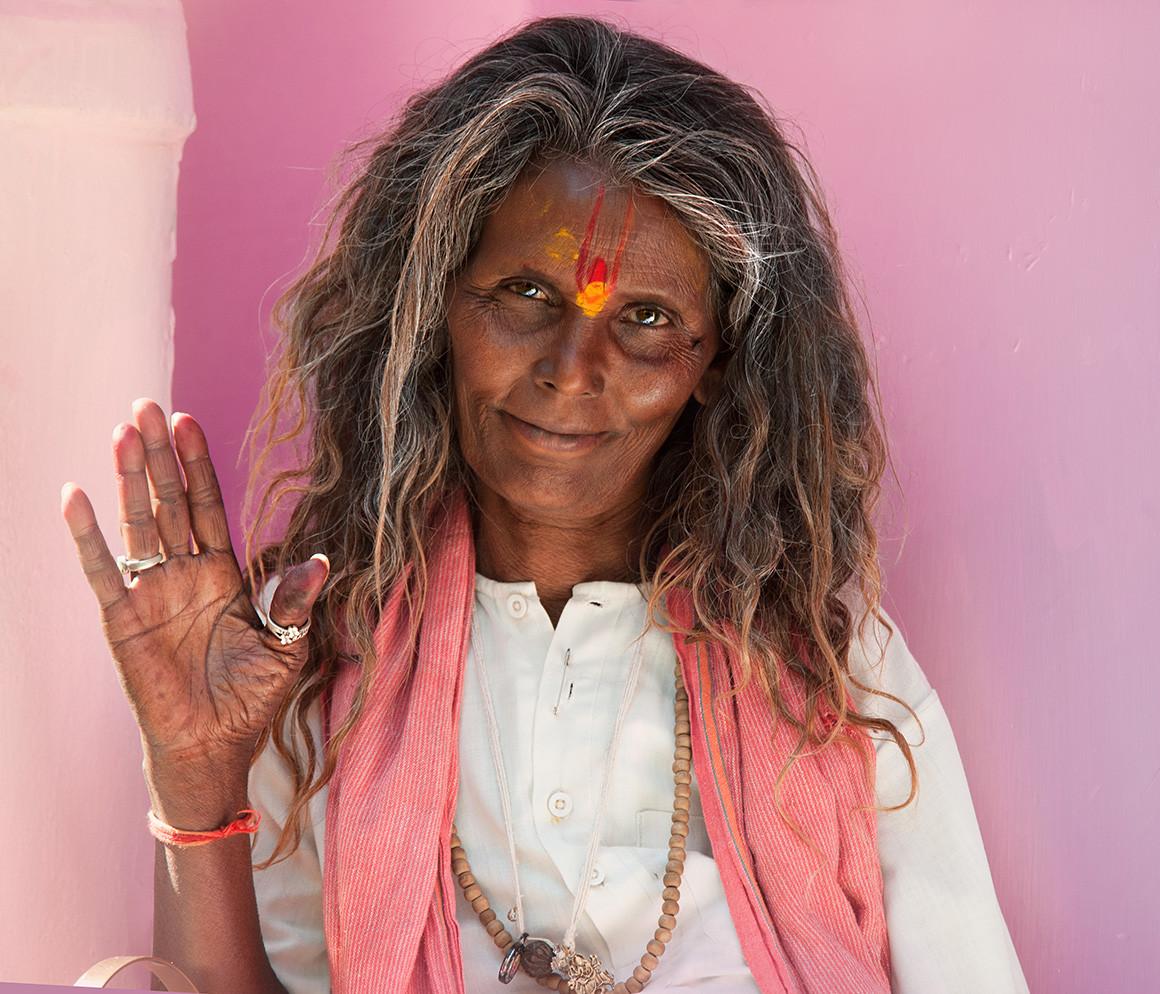 Portrait of a female Sadhu