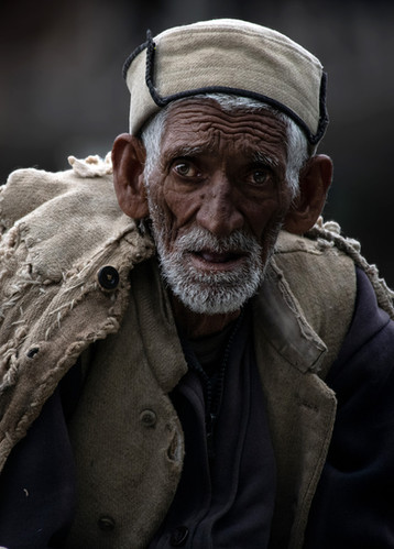 Portrait of an old man in Malana