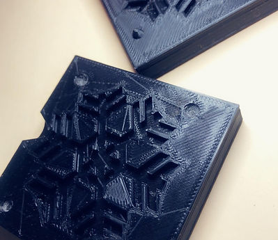 Snowflake soap mold 3D printed at Prefeckt Imperfecktons