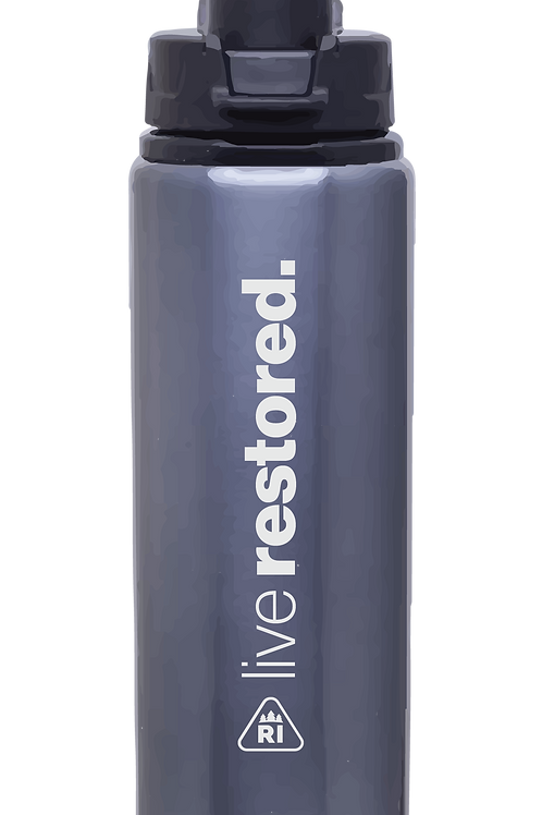 h2go Surge Aluminum Water Bottle 28 Oz. (Graphite)