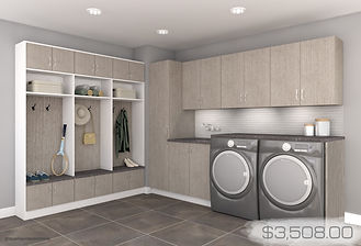 grab n go -teak laundry room with price.
