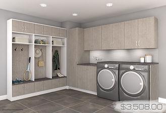 grab n go -teak laundry room with price.