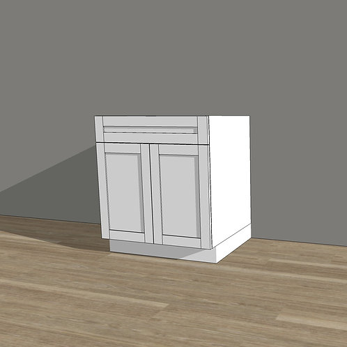 Base Cabinet with 2 Doors and 1 Drawer