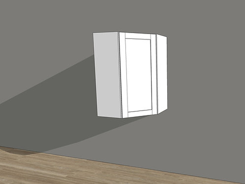 Angled Corner Wall Cabinet