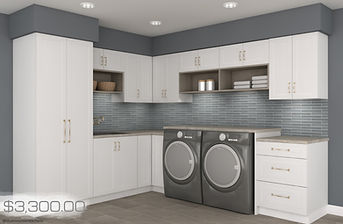 grab n go -white shaker laundry room wit