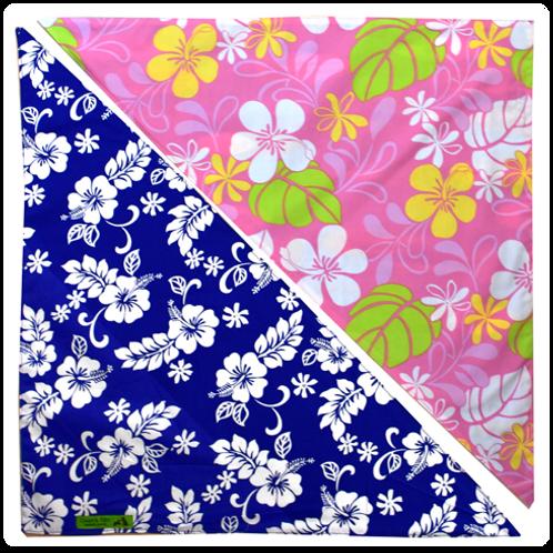 Blue Hibiscus 4 / Pink Plumeria 4 Bandanna