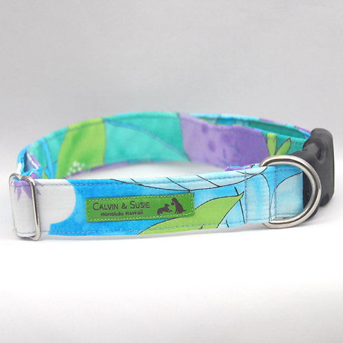 Turquoise Leaves 2 Collar & Leash