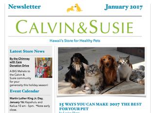 CALVIN & SUSIE JANUARY NEWSLETTER