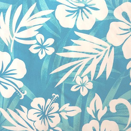 Aqua Hibiscus 2 Sundress