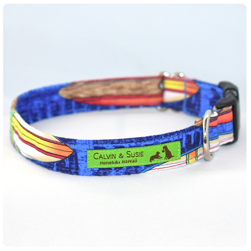 Blue Surfboard 3 Collar