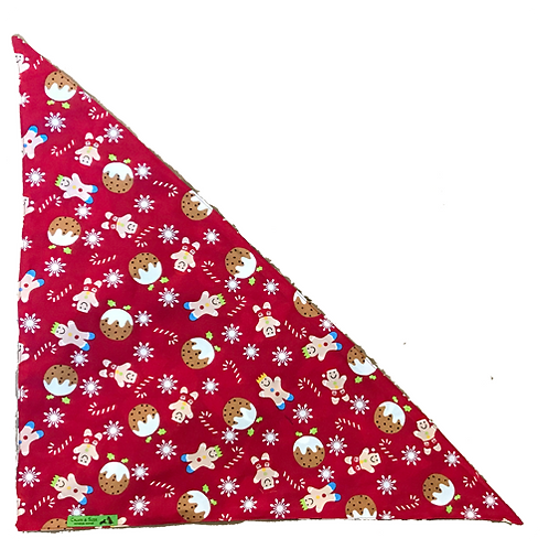 2018 Holiday Red Cookie Bandanna