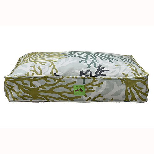 Aloha Bed - Green Coral Cover