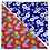 Thumbnail: Red Pineapple 4 / Blue Hibiscus 4 Bandanna