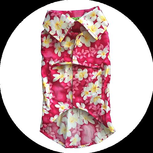アロハシャツ プルメリア ピンク色 2.0