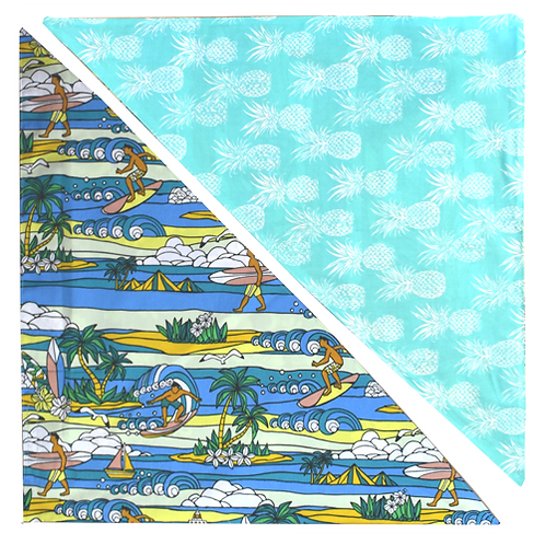 Blue Lighthouse / Mint Pineapple Bandanna