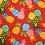 Thumbnail: Red Pineapple 4 / Turquoise Surfboard 4 Bandanna
