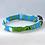 Thumbnail: Turquoise Gardenia 2 Collar & Leash
