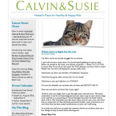 CALVIN & SUSIE JULY NEWSLETTER