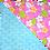 Thumbnail: Pink Plumeria 4 / Blue Pineapple 3 Bandanna