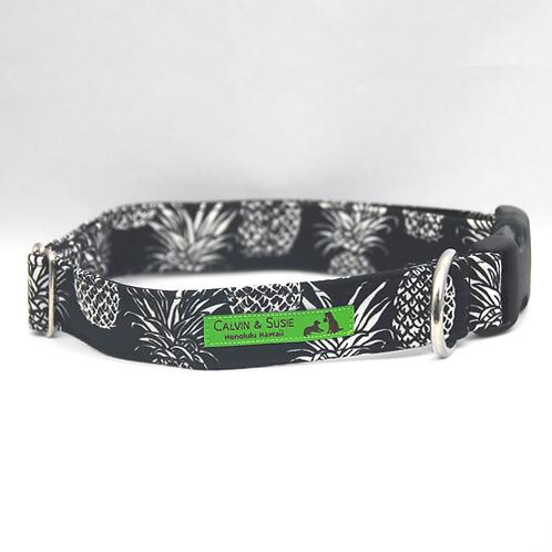 Black Pineapple 3 Collar & Leash