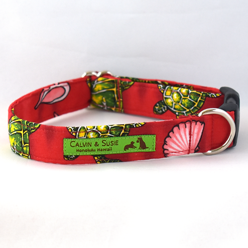 Red Turtles Collar & Leash