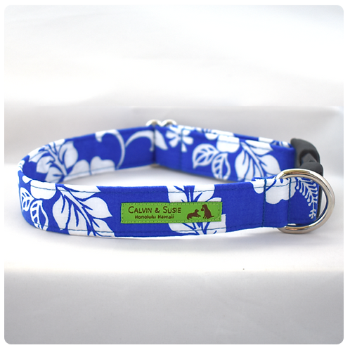 Blue Hibiscus 4 Collar