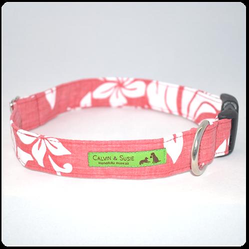 Red Hibiscus 5 Collar & Leash