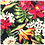 Thumbnail: Black Byrds / Blue Hibiscus 5 Bandanna