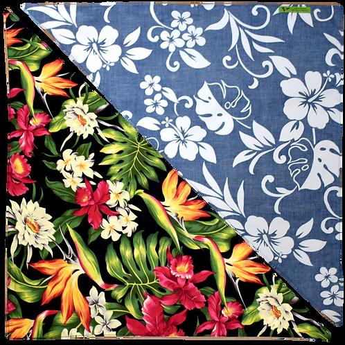 Black Byrds / Blue Hibiscus 5 Bandanna