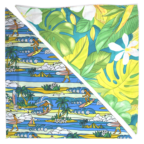 Green Leaves / Blue Lighthouse Bandanna