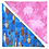 Thumbnail: Turquoise Surfboard 3 / Pink Coral Bandanna