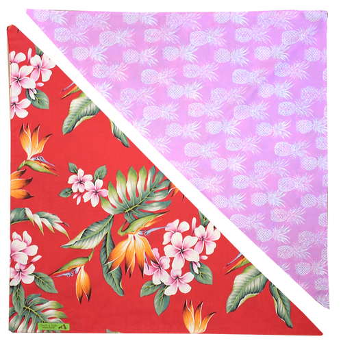 Red Byrds / Pink Pineapple 3 Bandanna