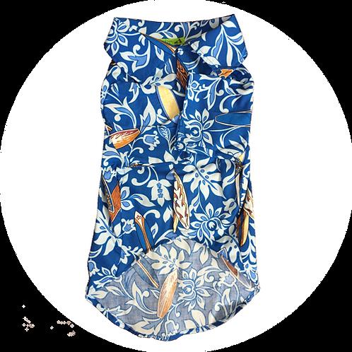 アロハシャツ サーフボード 青色 2.0