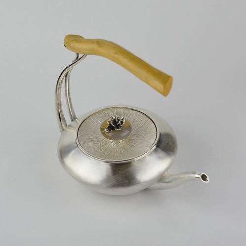 (1719) 小提樑-玉髓花朵鈕