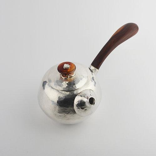 (2022) 紅花梨木瑪瑙鈕側把壺
