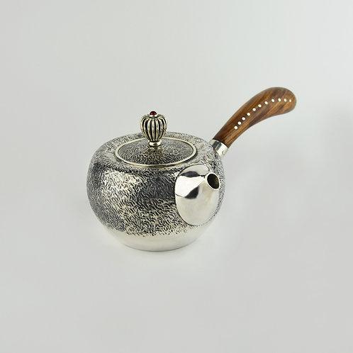 (2011) 橄欖木鎚紋側把壺