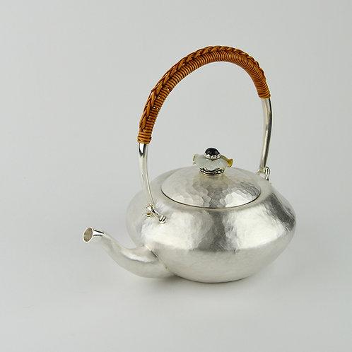 (1804) 籐編提樑-玉花片鈕