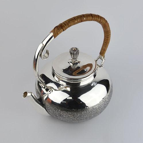 (1810) 煮水壺-圓壺籐編提樑