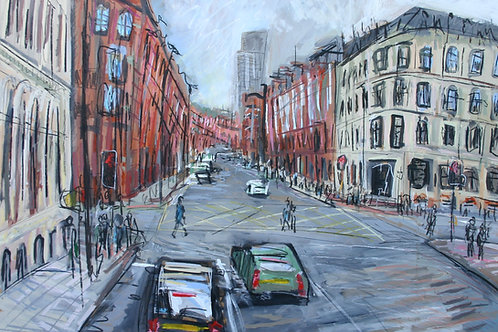 Portland Street From front of Bus by Matthew Thompson