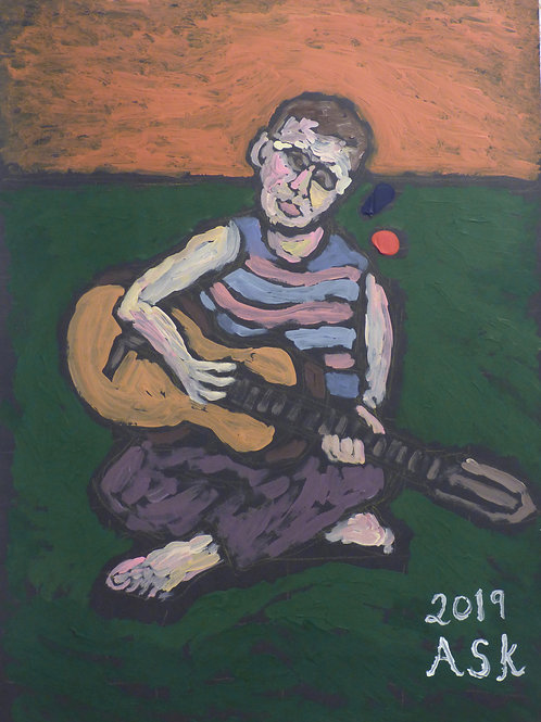 Boy with guitar by ASK Fulgur