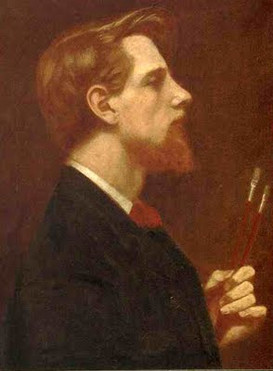 Self Portrait in Profile - Thomas Cooper Gotch (1854 – 1931)
