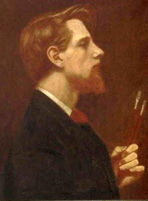 Self Portrait in Profile - Thomas Cooper Gotch (1854 – 1931)