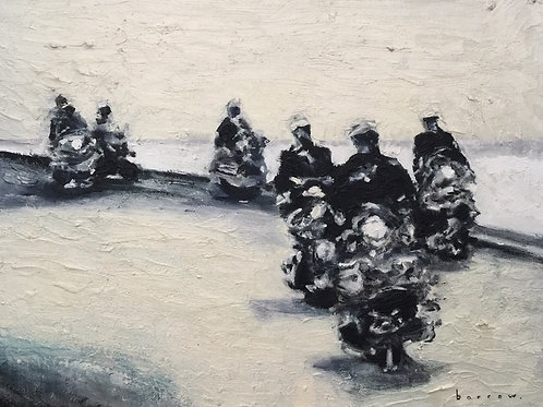 6 Mods go on Sea View Road by David Barrow