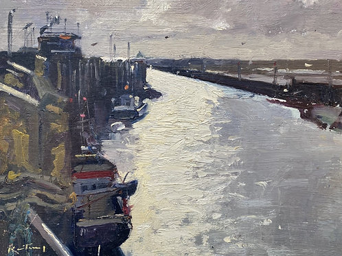 Rye Harbour, Winter by Karl Terry